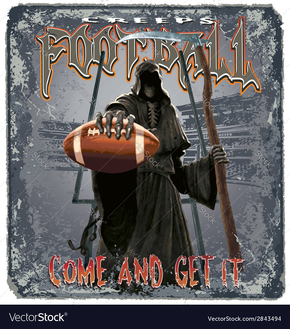Football creeps vector image