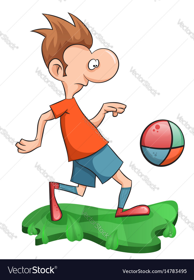 Sweet man plays football vector image