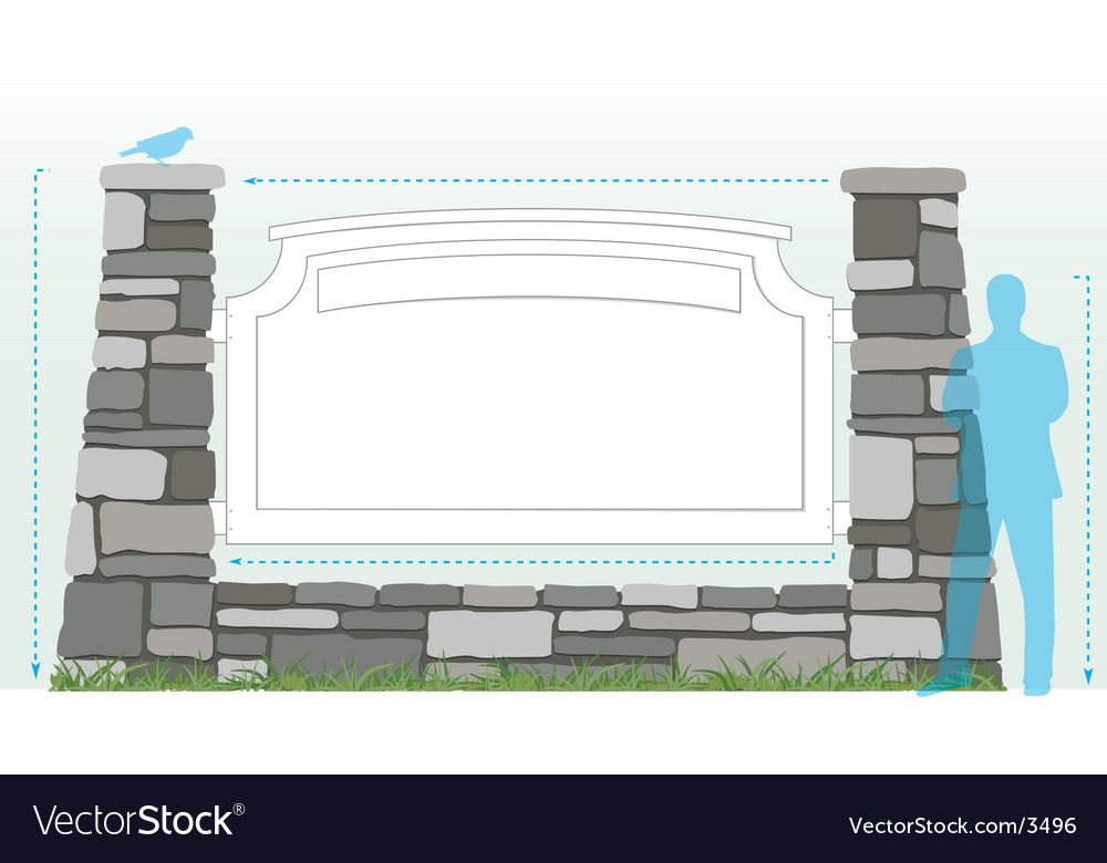Stone sign diagram vector image