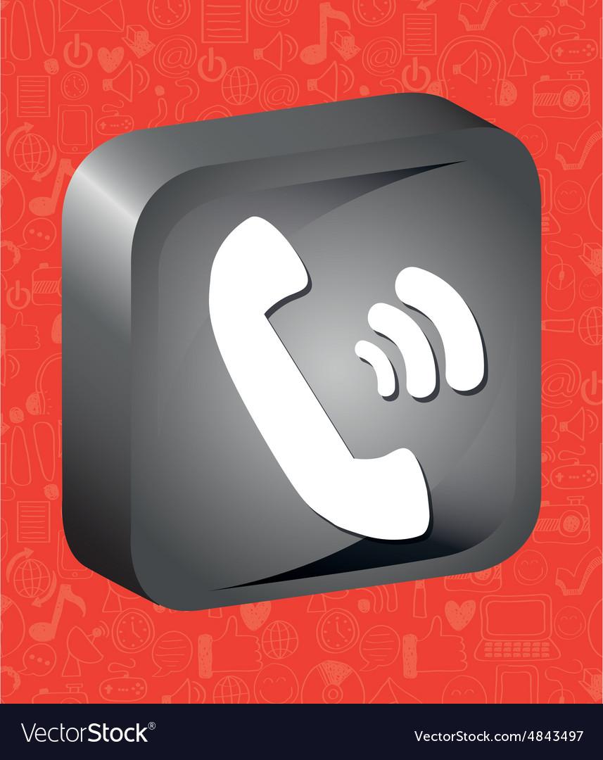 Call button vector image