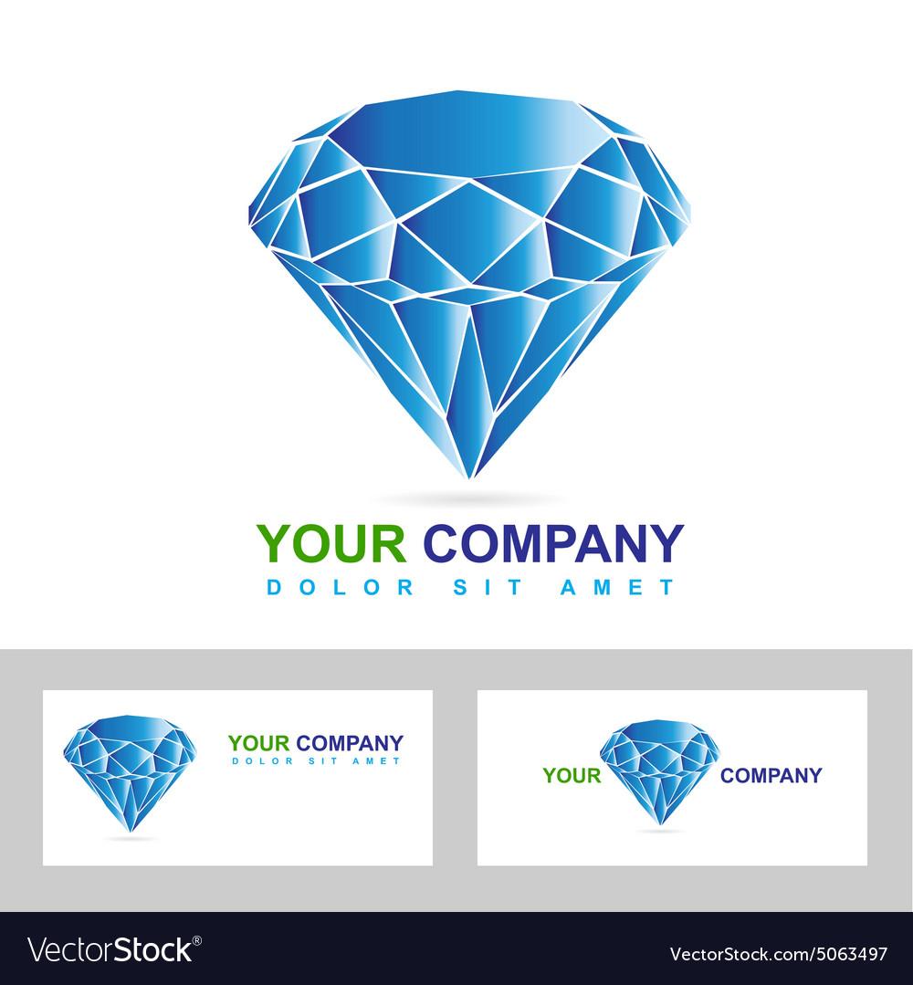 Diamond or jewelry business logo vector image