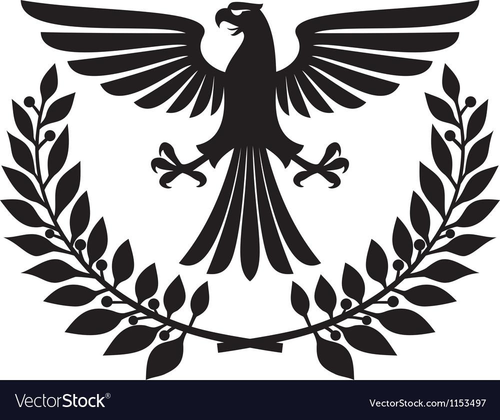 eagle coat of arms royalty free vector image vectorstock