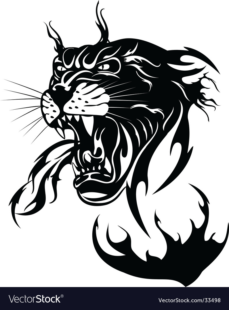 The black panther Vector Image