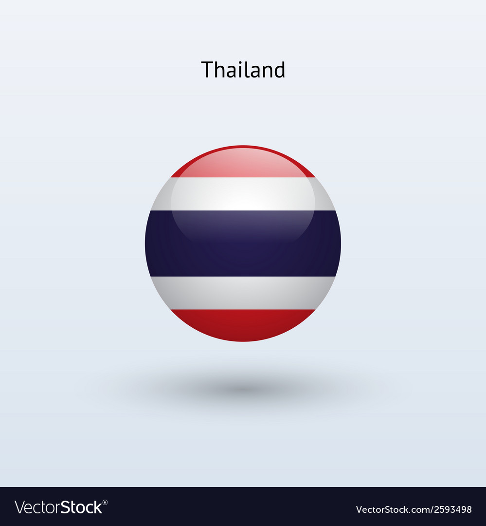 Thailand round flag vector image
