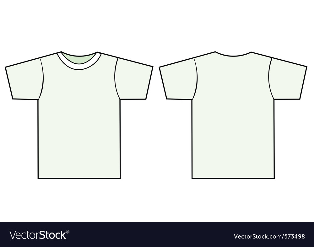 unisex tshirt template royalty free vector image. Black Bedroom Furniture Sets. Home Design Ideas