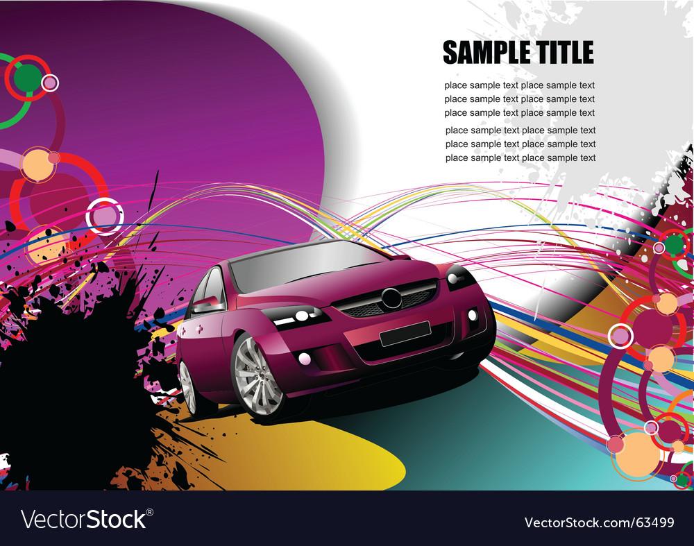 Grunge transport background Vector Image