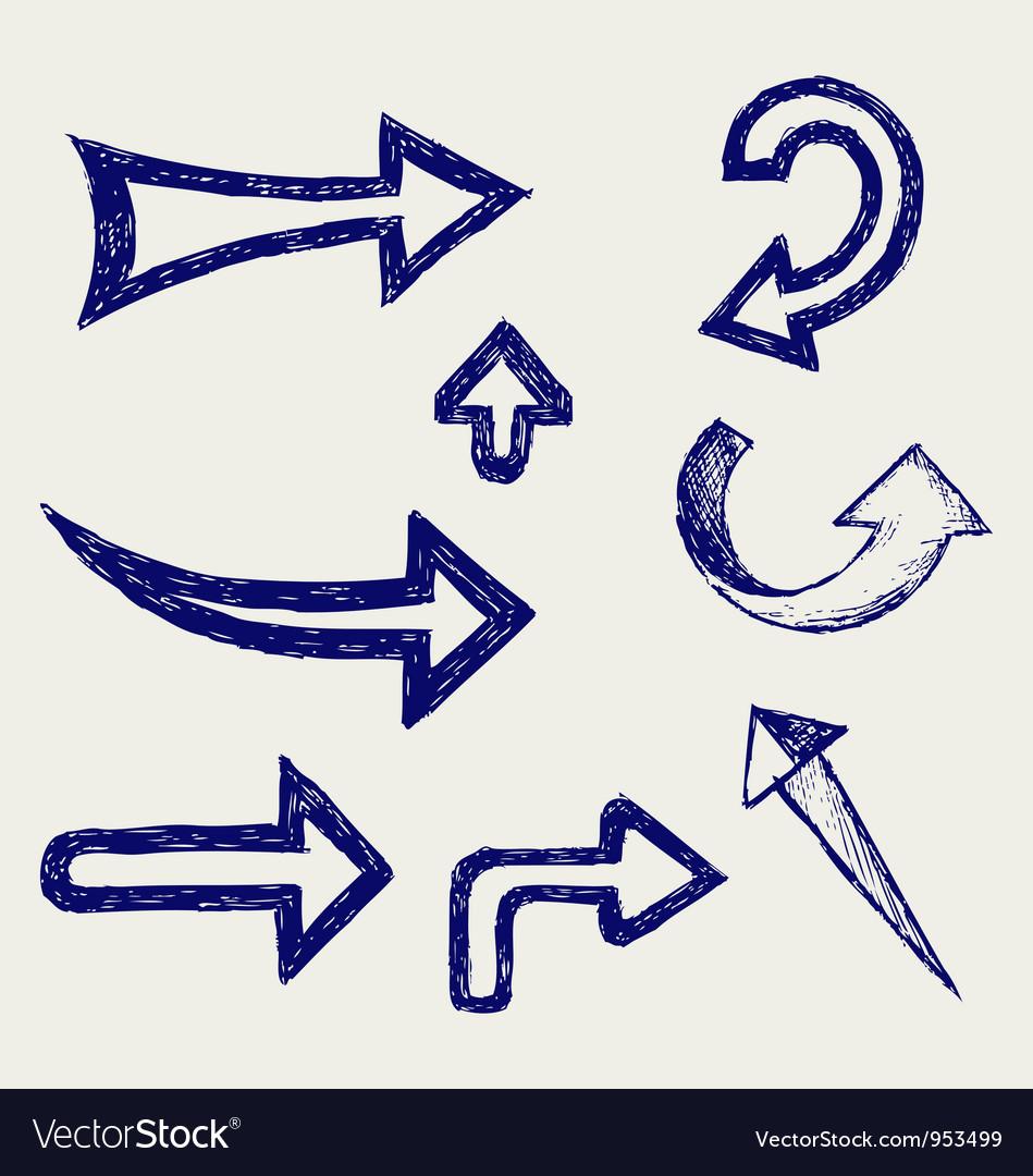 Retro arrows and pointers vector image