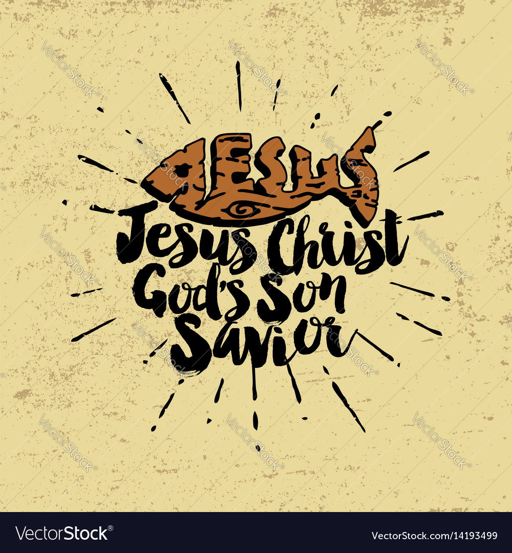 Jesus christ gods son savior vector image
