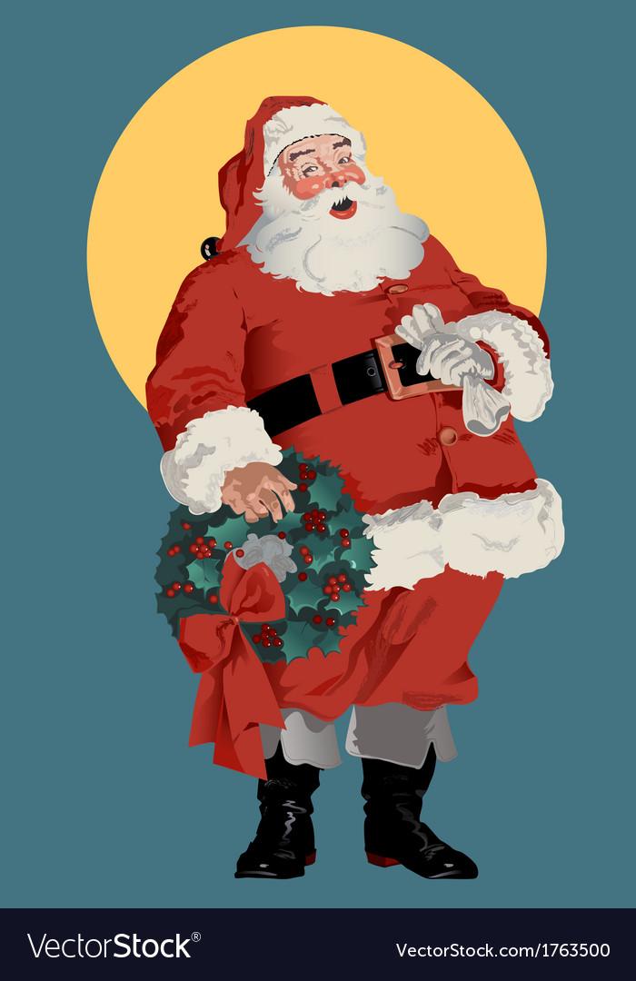 Traditional American Santa Claus vector image