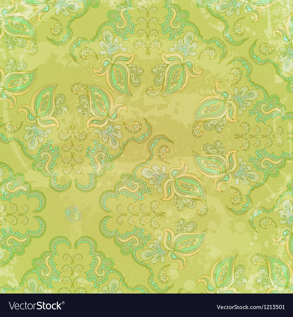 Vintage background with floral ornament elements Vector Image