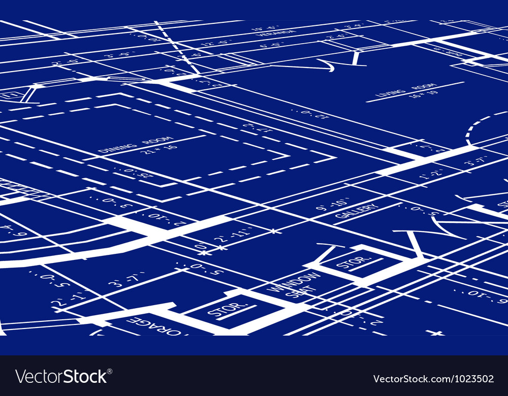 Blueprint of floor plan vector image