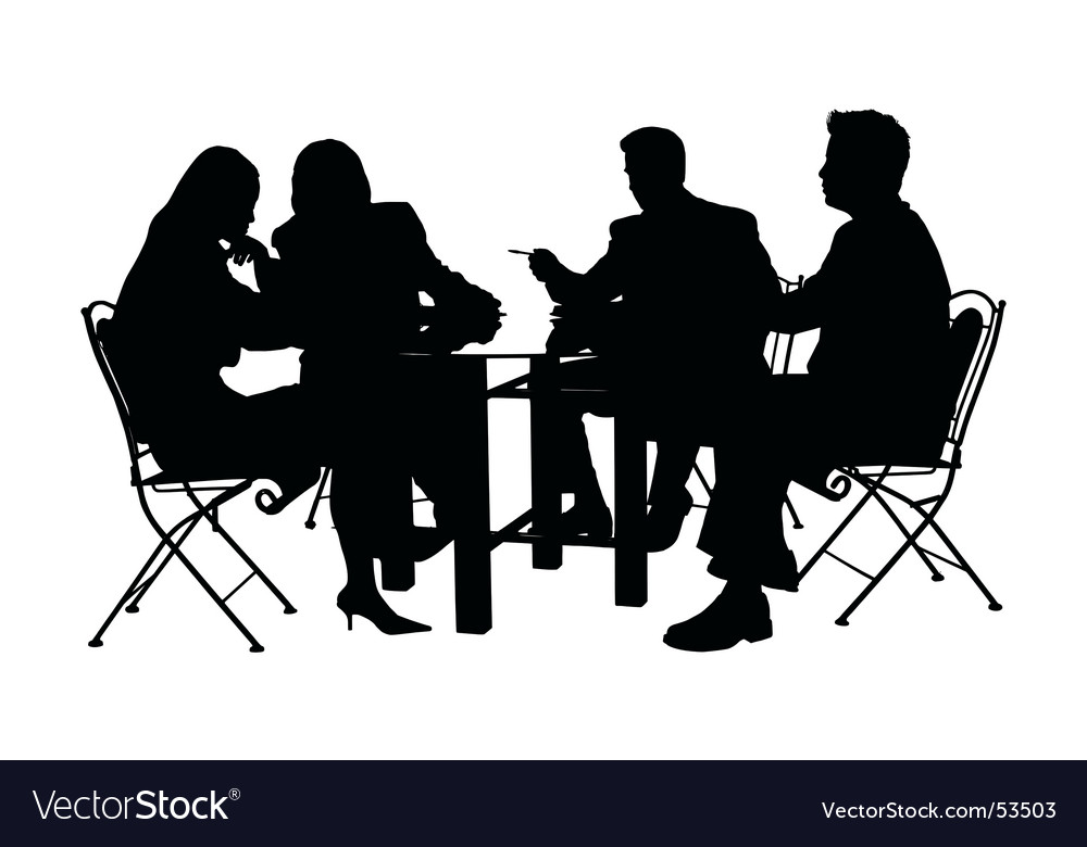 Business conference vector image