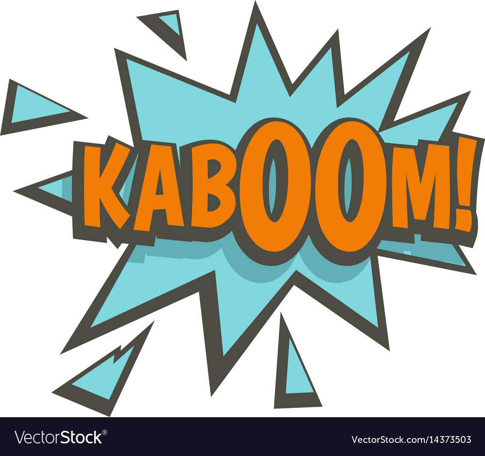 Kaboom comic text sound effect icon isolated vector image