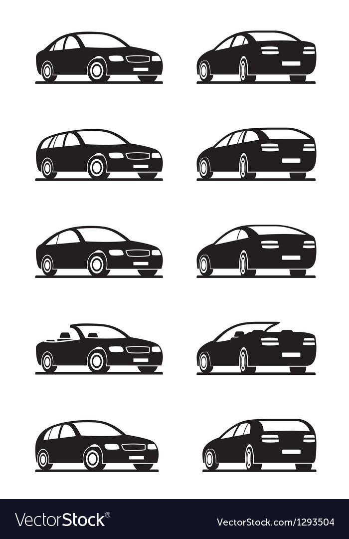 Popular cars in perspective Vector Image