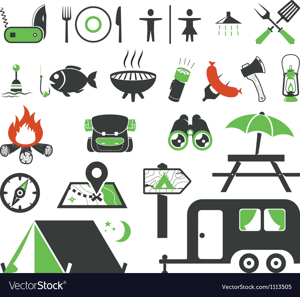 Camp vector image