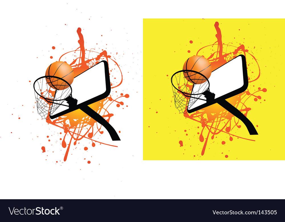 Basketball hoop splat vector image