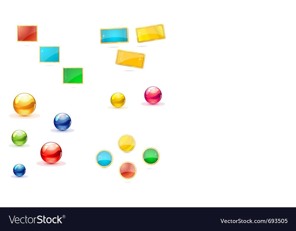 Shiny circles sign set vector image
