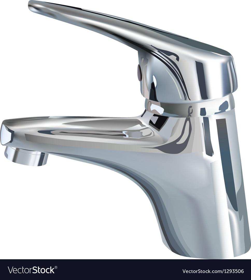 Bathroom tap vector image