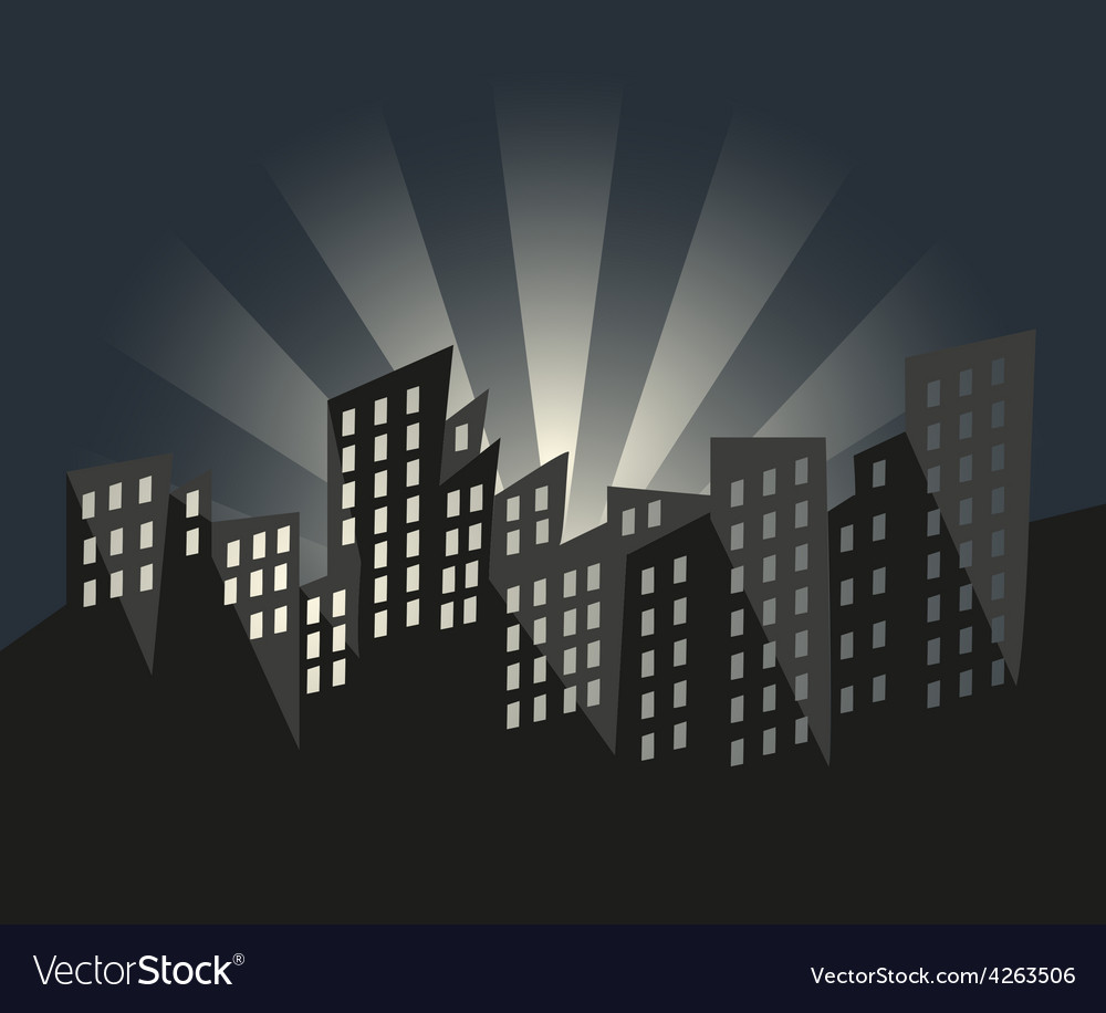 City of Sunrise vector image