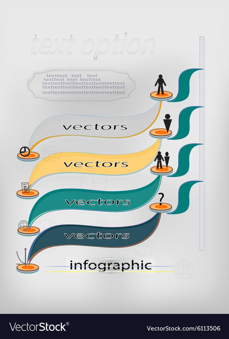 Creative banner background for design vector image