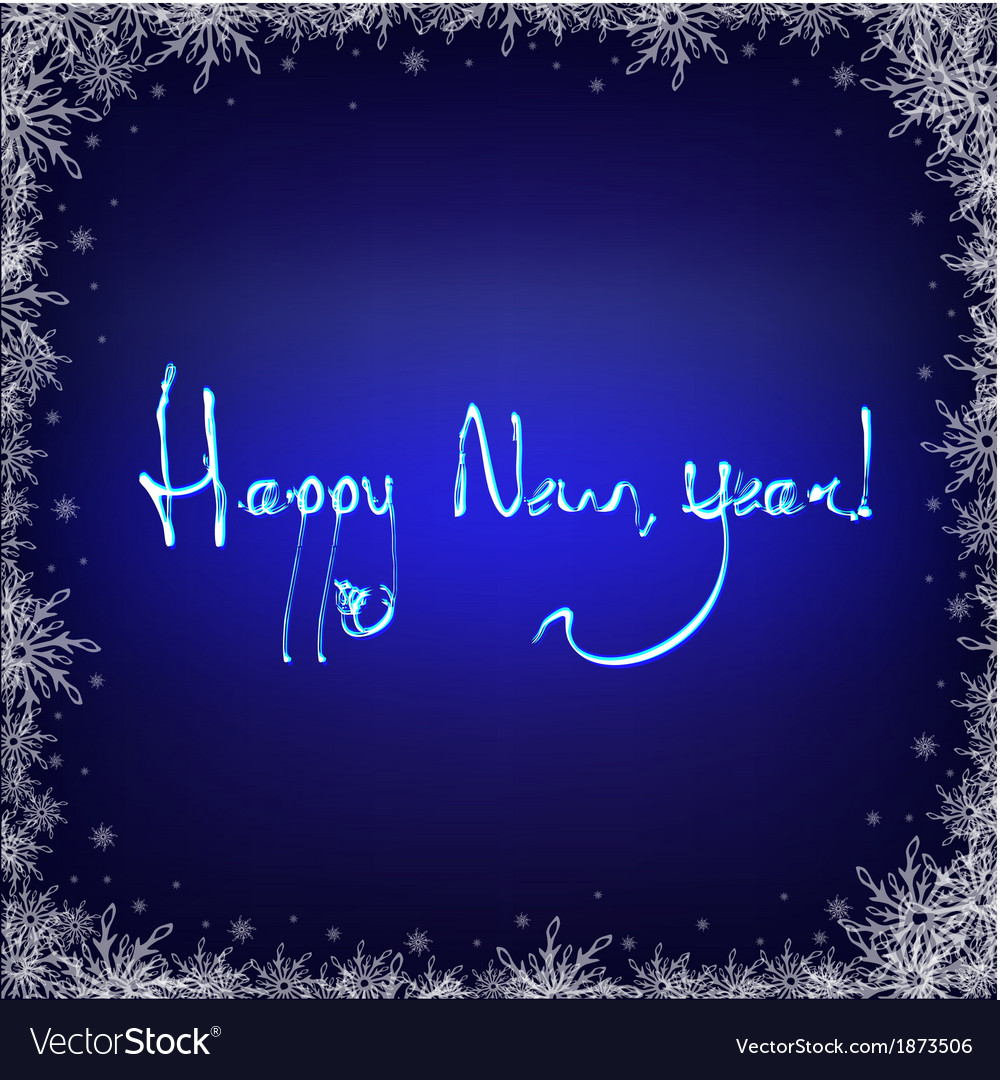 Dark Blue Background With Snowflakes vector image