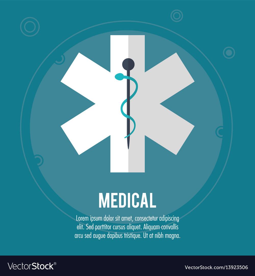 Medical health care symbol design vector image