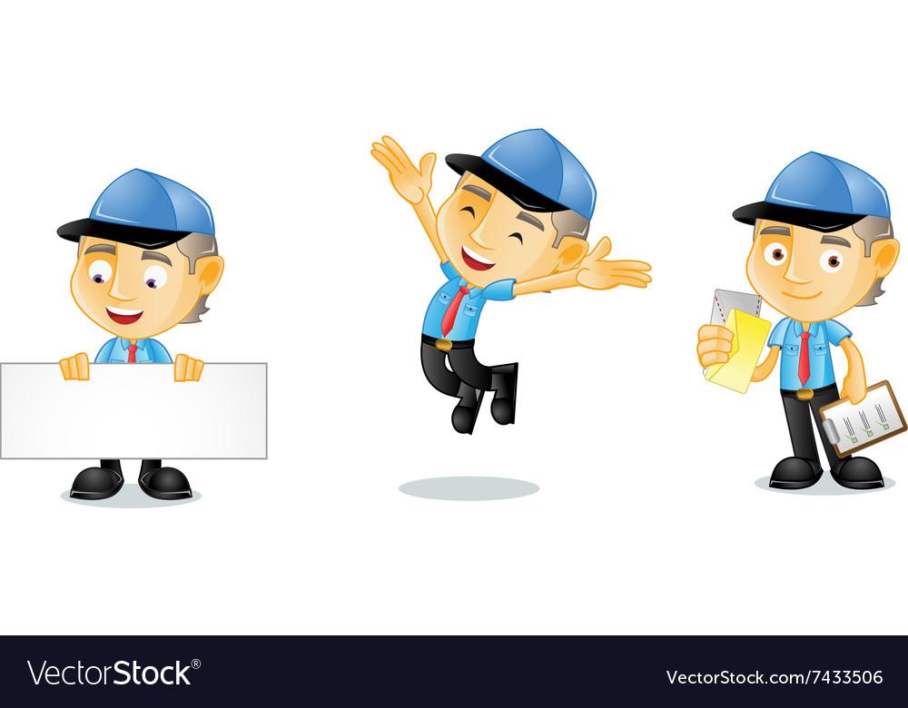 Postman 1 vector image