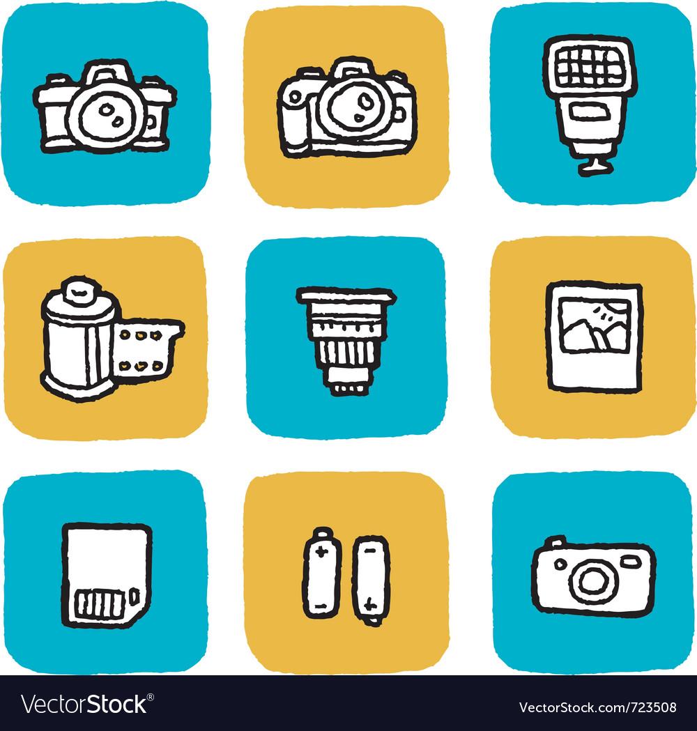 Icon cameras vector image