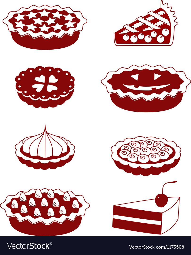 Pies and tarts vector image
