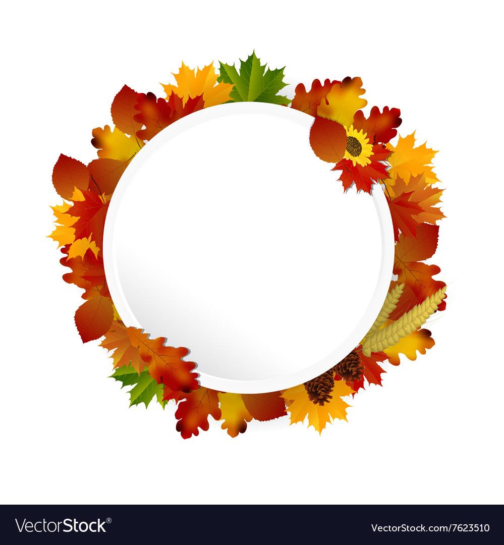 Autumn Frame concept circular vector image