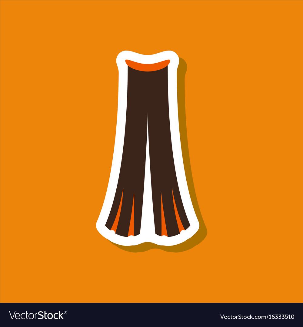 Paper sticker fashion clothes pants vector image