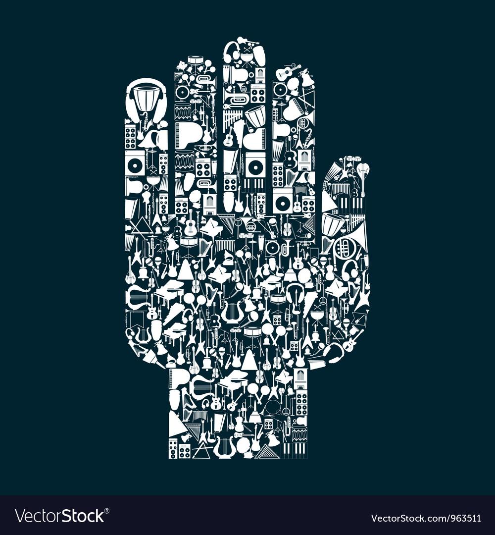 Music hand2 vector image