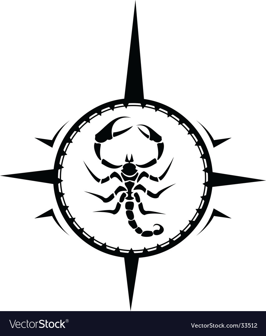 Scorpion tattoo vector image