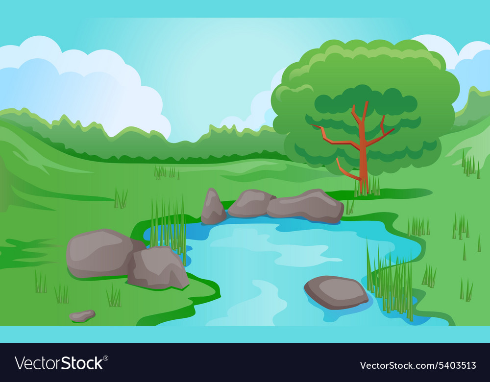 how to draw a pond scene www imgkid com the image kid Animated Duck in a Pond Drawings of Ducks in Pond
