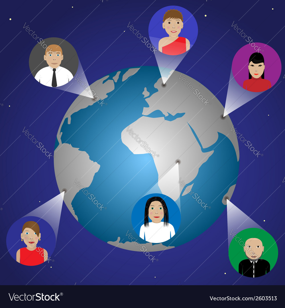 Connection people concept vector image