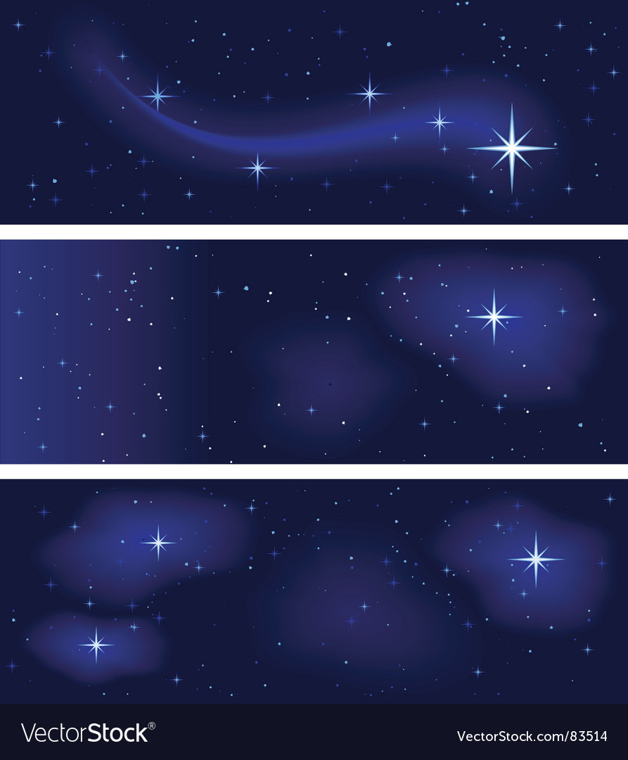Star constellations vector image