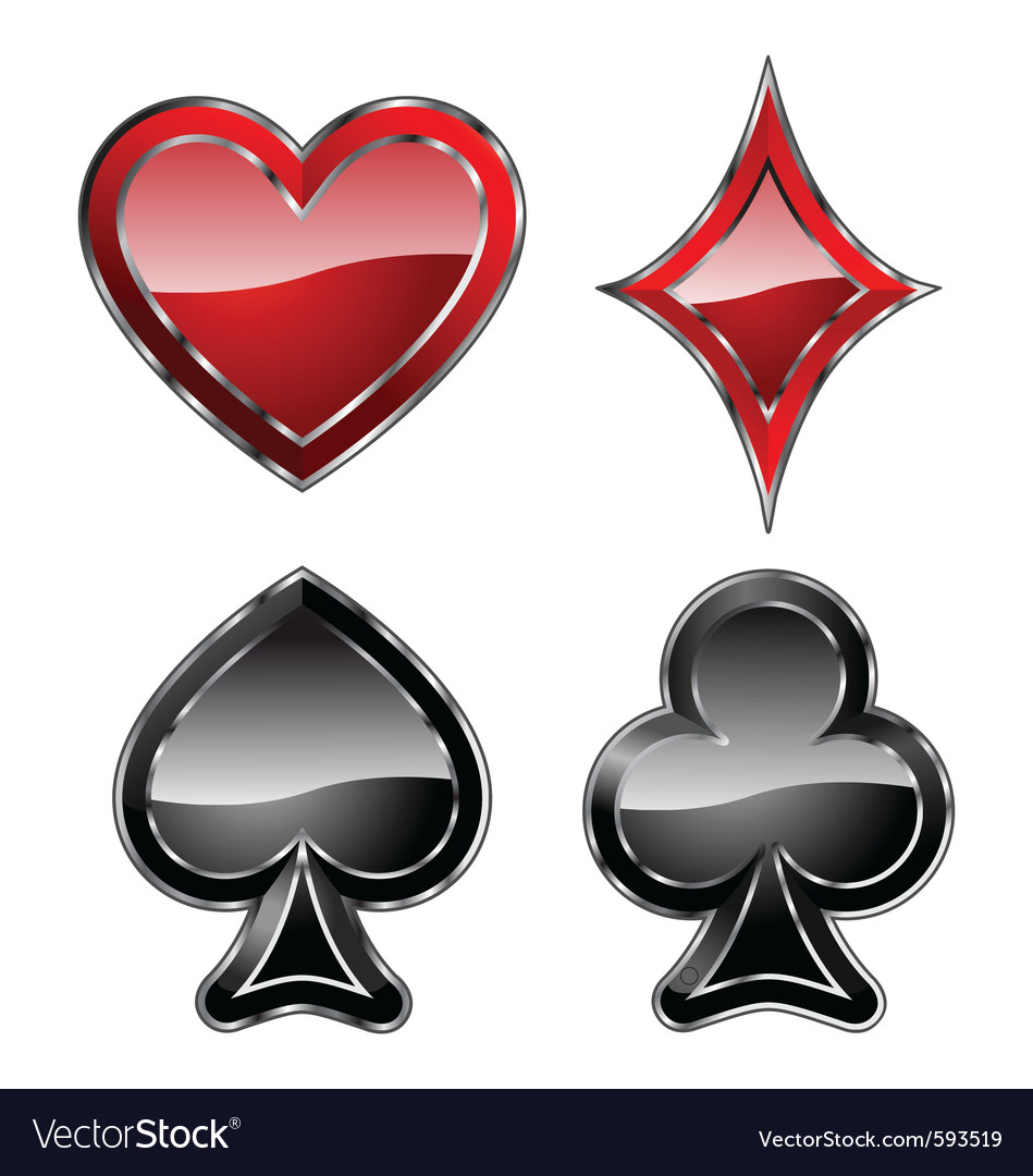 Playing card symbols Vector Image by zodiaribi - Image #593519 ...