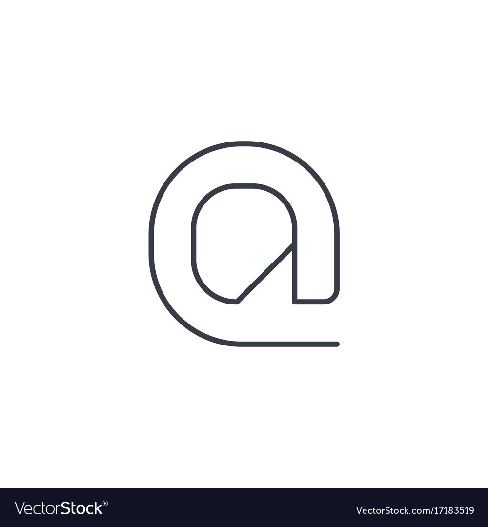 Email symbol at thin line icon linear vector image
