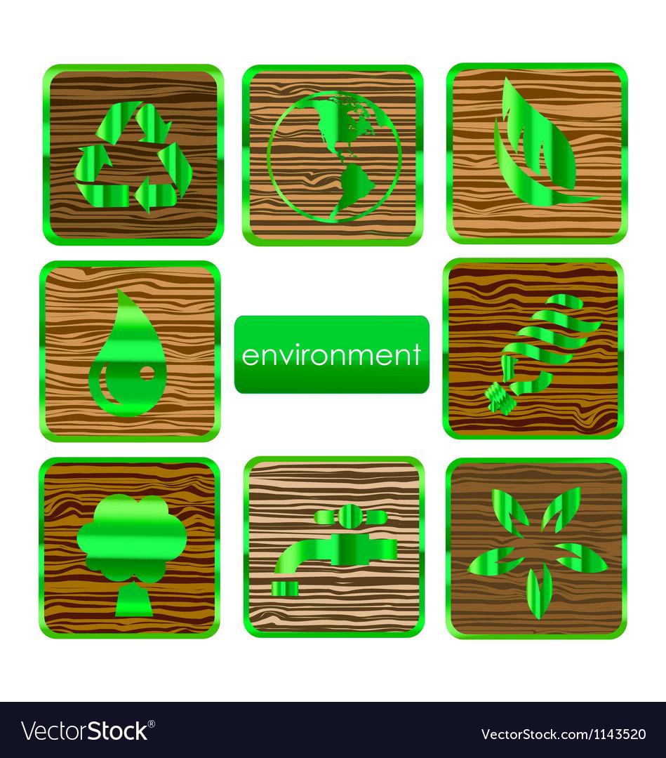 Environmental nature and eco sign set vector image