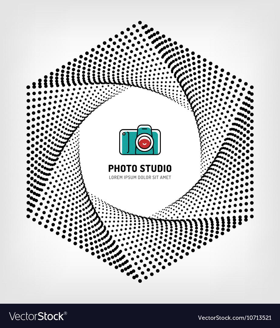 Photo studio logo design template vector image