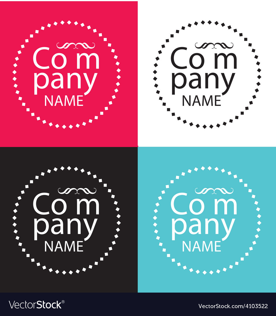 Fashion brand logo vector image