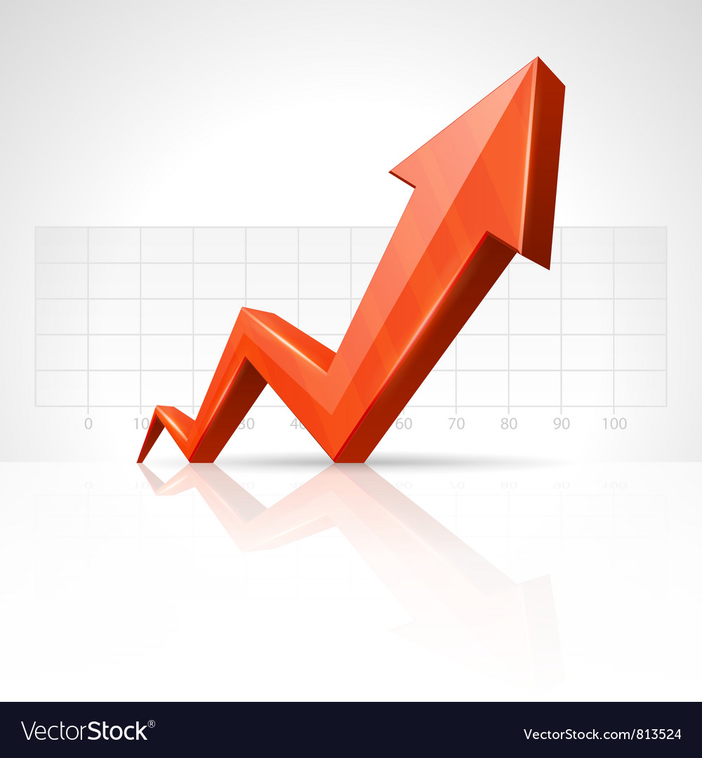 3d growth arrow Royalty Free Vector Image - VectorStock