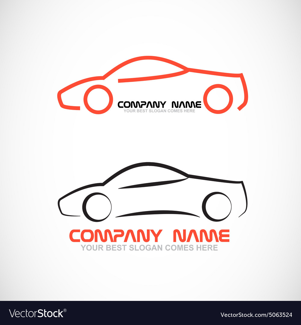 Car shape logo vector image