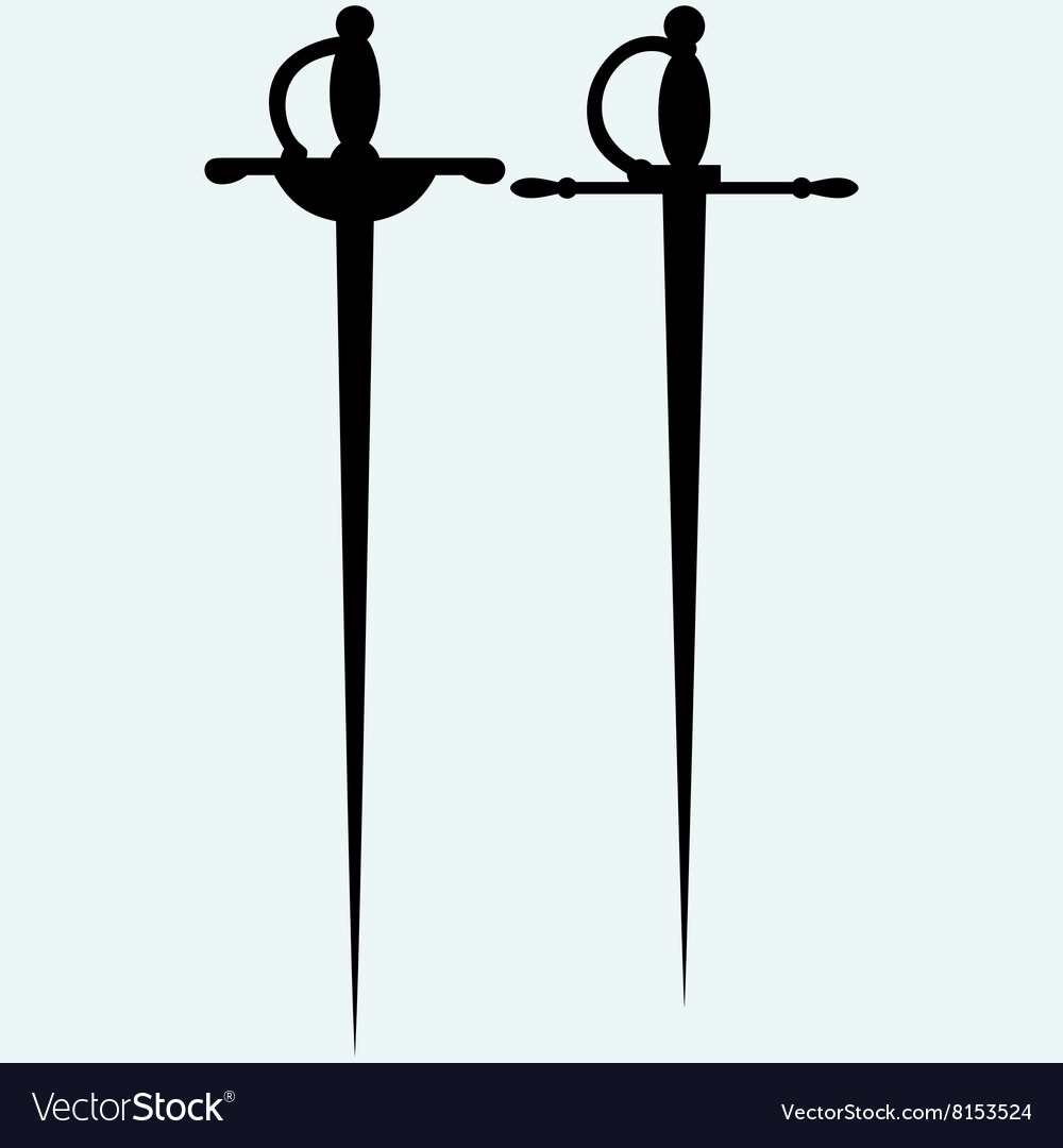 Two saber vector image
