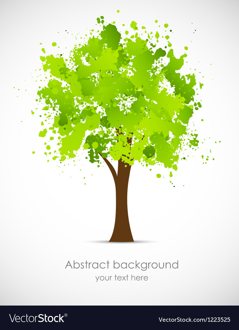 Abstract grunge tree vector image