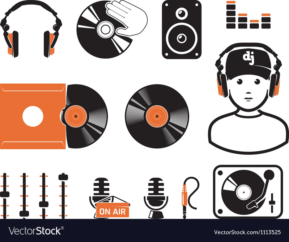 DJ set vector image