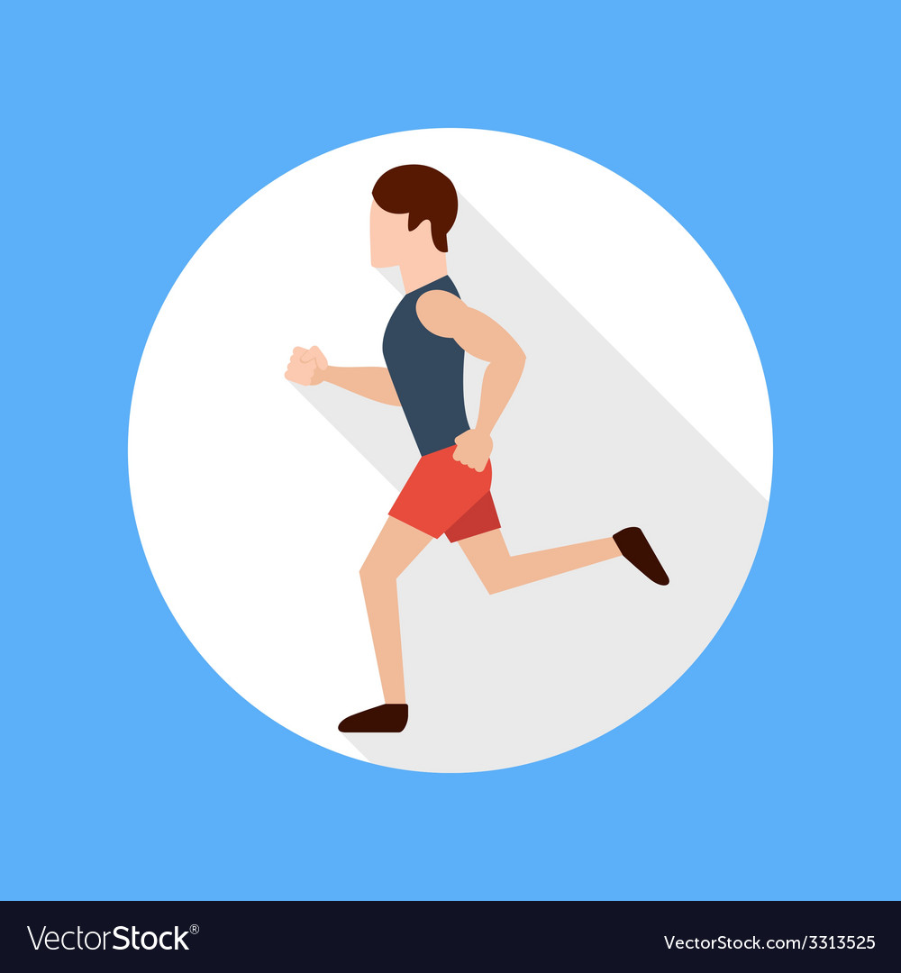 Running man vector image
