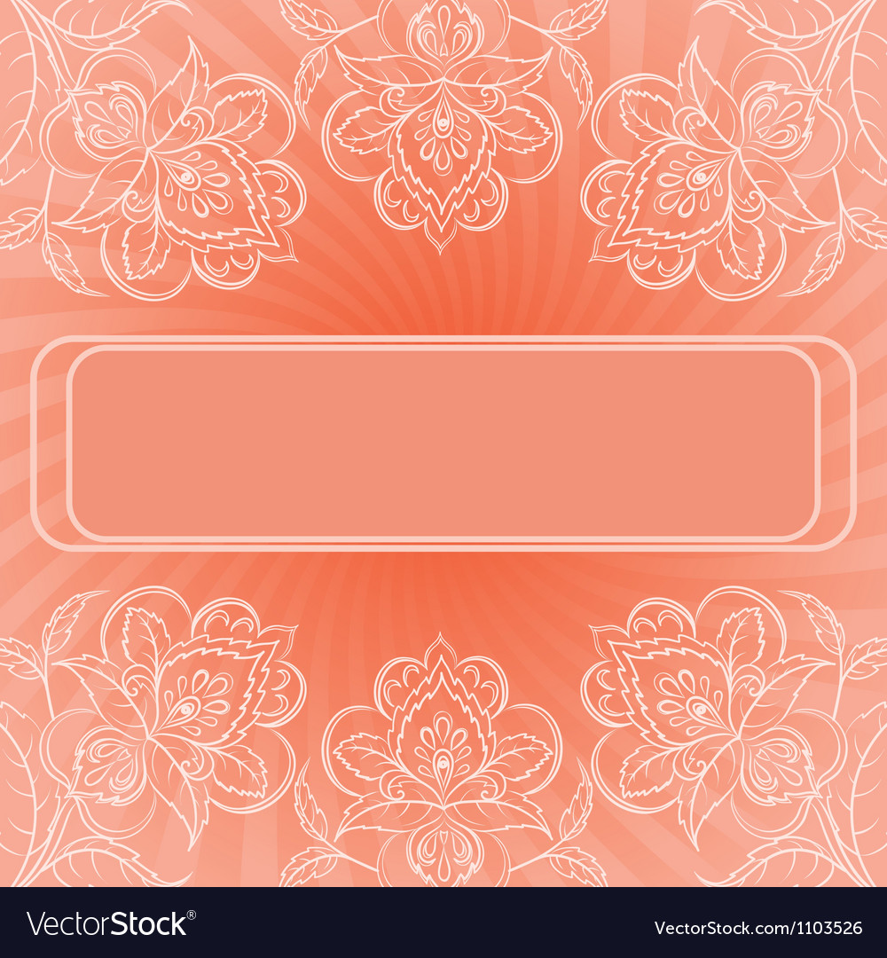 Background abstract flowers vector image