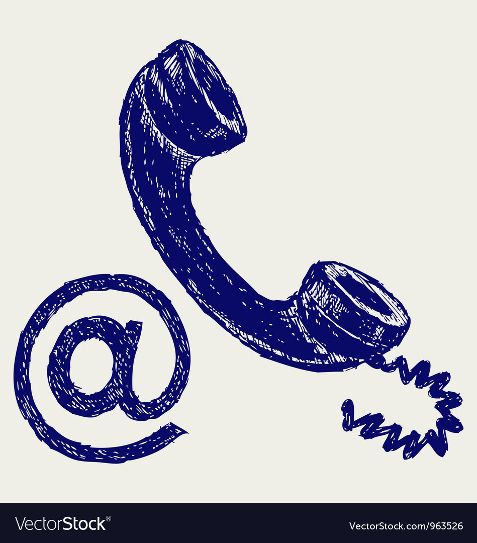 Telephone mail vector image