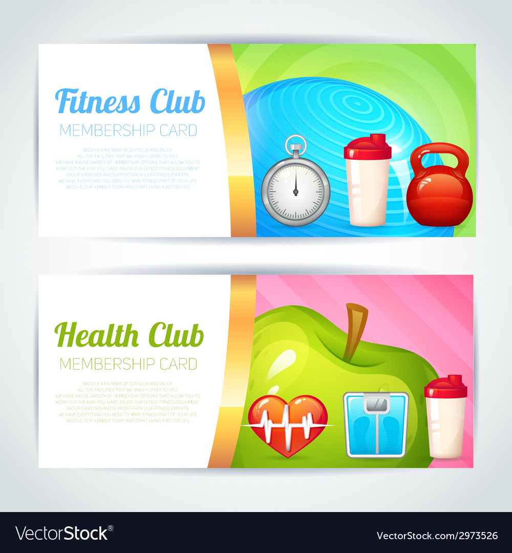Fitness club card design Royalty Free Vector Image – Club Card Design